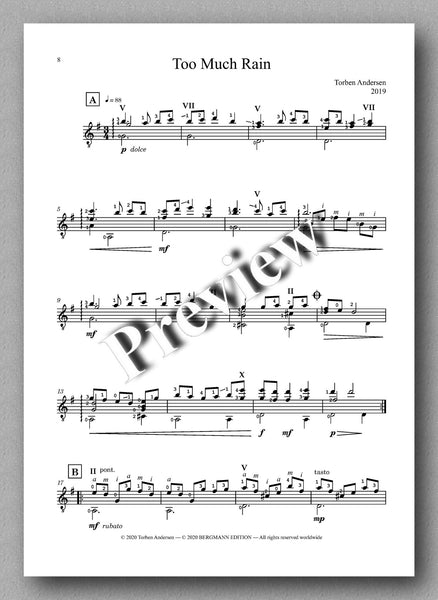 Torben Andersen, Twisted Moonbeams  - preview of the Music score 3