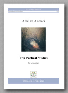 Adrian Andrei, Five Poetical Studies - preview of the cover