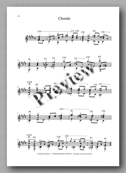 Bach-Whittle, Five pieces - preview of the music score 5