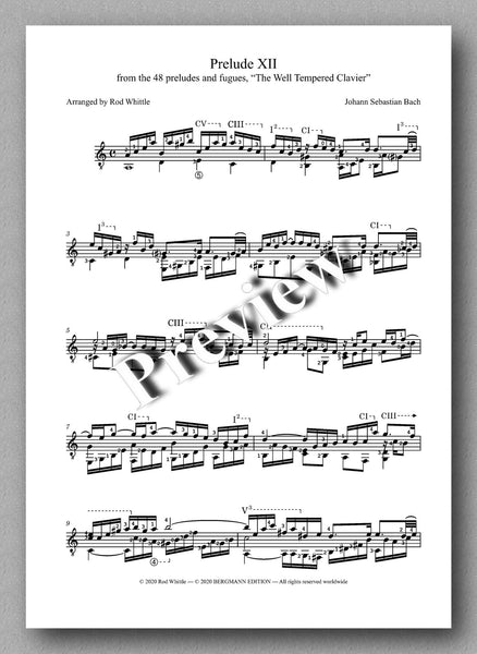 Bach-Whittle, Five pieces - preview of the music score 1