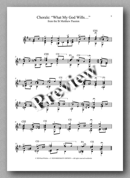 Bach-Whittle, Five pieces - preview of the music score 4