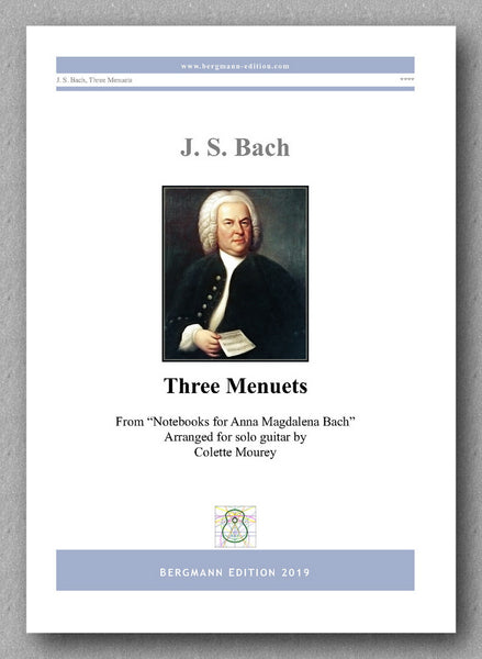 Three Menuets by J. S. Bach - preview of the cover