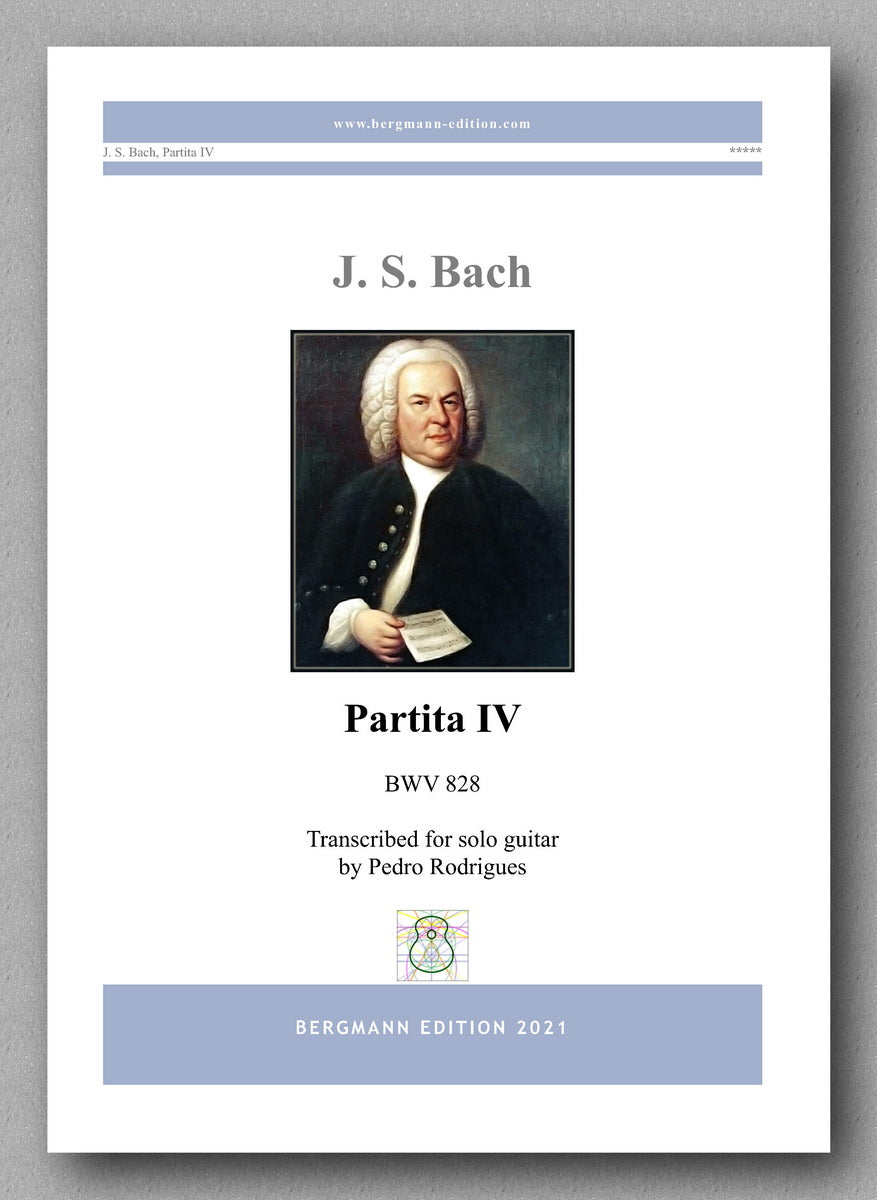 Bach-Rodriques, Partita IV,  BWV 828 - cover