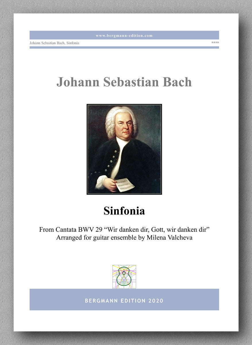 J.S. Bach, Sinfonia - preview of the cover