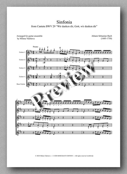 J.S. Bach, Sinfonia - preview of the music score 1