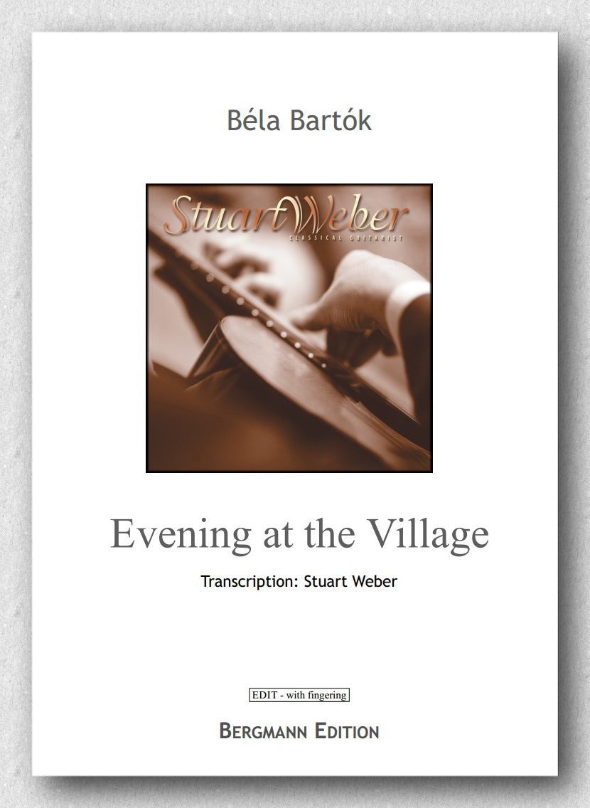 Bartok - Weber, Evening at the Village - preview of the cover