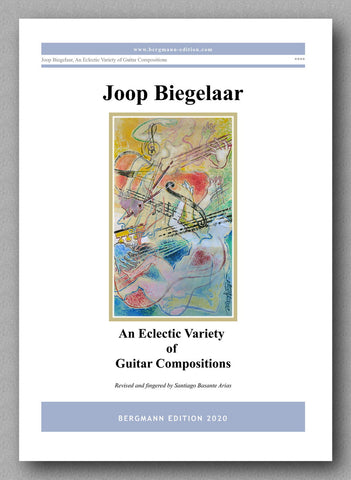 An Eclectic Variety of Guitar Compositions by Joop Biegelaar - preview of the cover
