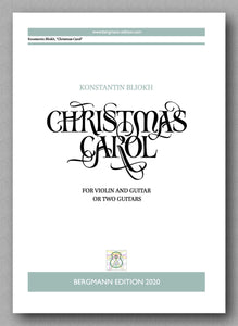 Konstantin Bliokh, Christmas Carol, op. 39 - preview of the cover
