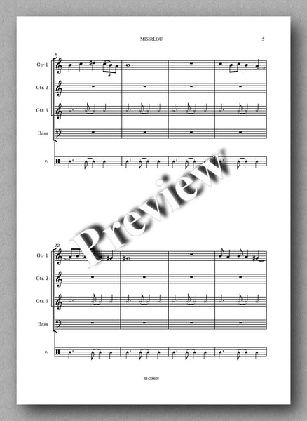 Lincoln Brady, Misirlou - preview of the music score 2
