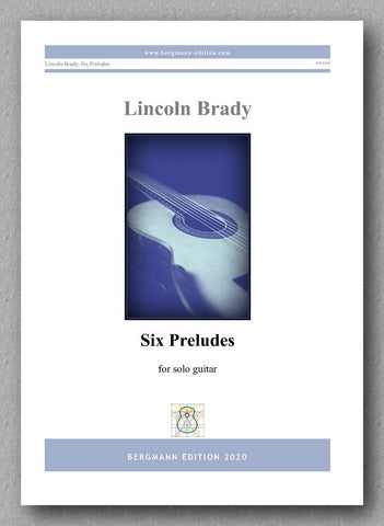 Lincoln Brady: Six Preludes, for solo guitar - preview of the cover