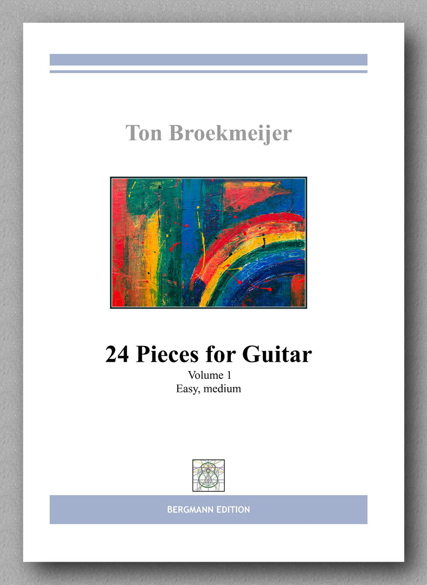 Ton Broekmeijer,  24 Pieces for Guitar - preview of the cover
