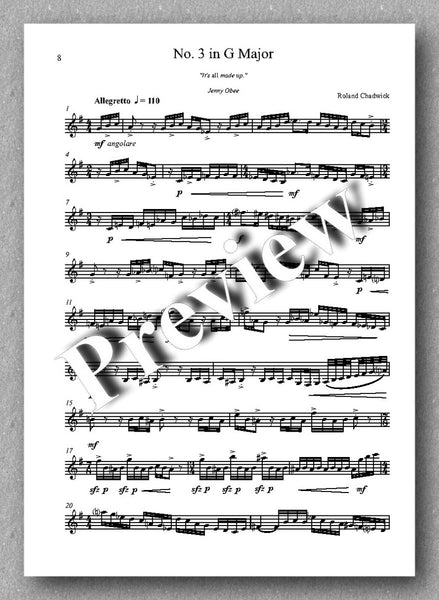 Roland Chadwick, 24 Melodic Preludes, Book 1 - preview of the music score 2