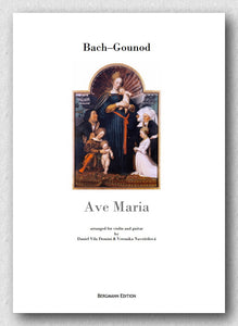 Bach–Gounod, Ave Maria arranged for guitar and violin, cover