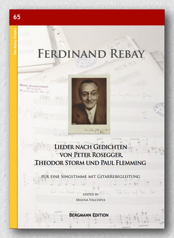 Rebay [065], Lieder nach Gedichten von Peter Rosegger, Theodor Storm und Paul Flemming - preview of the cover