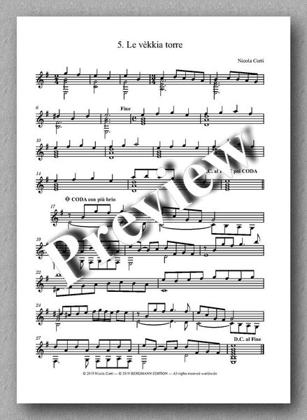 Corti, 2. Suite del Ricercare - preview of the music score