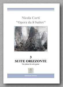 Nicola Corti, 3. Suite Orizzonte, for solo guitar - preview of the cover