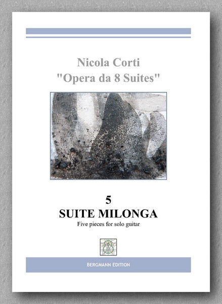 Nicola Corti, 5. Milonga, for solo guitar - Preview of the cover