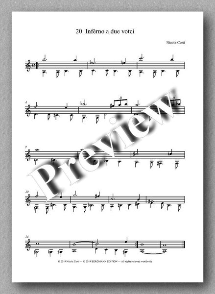 Nicola Corti, 5. Milonga, for solo guitar - Preview of the music score 1