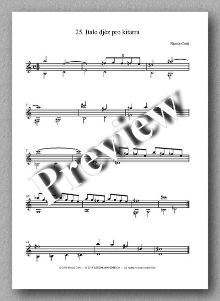 Nicola Corti, 6. Suite Jazz, for solo guitar - preview of the music score 1