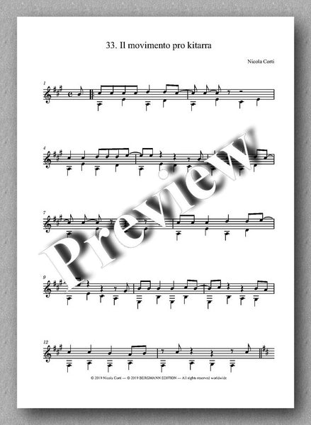 Nicola Corti, 7. Suite Rag and Blues, for solo guitar - preview of the music score 2