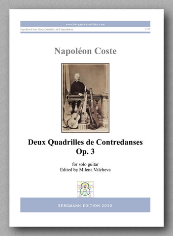 Napoléon Coste,  Deux Quadrilles de Contredanses Op. 3  - preview of the cover