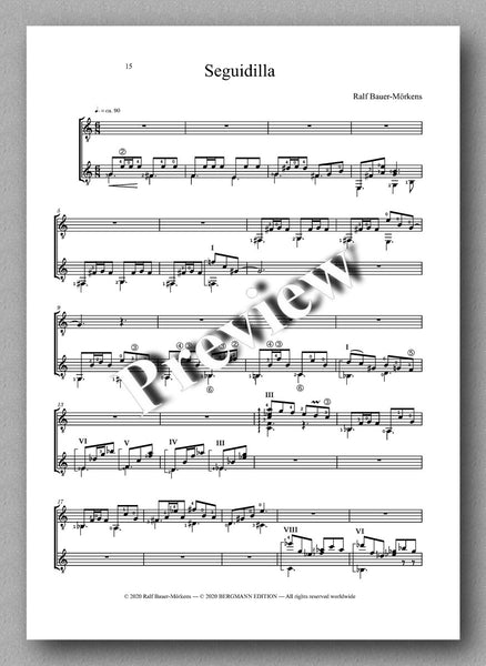 Danzas by Ralf Bauer-Mörkens - preview of the music score 4