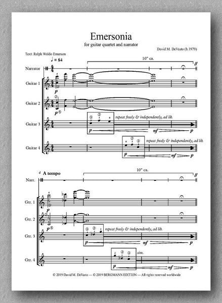 DeVasto, Emersonia - preview of the music score