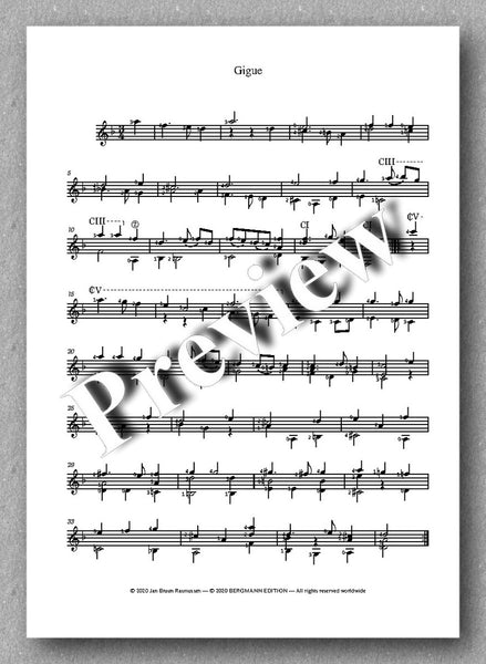 Robert de Visée, Suite in D-minor - preview of the music score 3