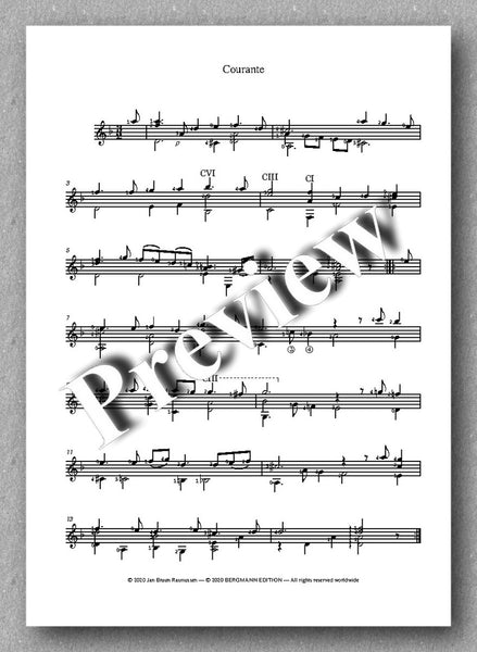 Robert de Visée, Suite in D-minor - preview of the music score 2
