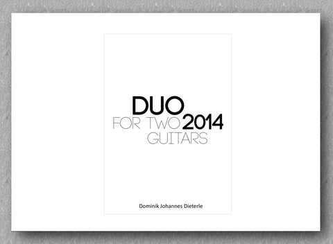 Dominik Johannes Dieterle - Duo for Two guitars, cover
