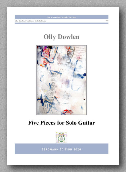 Dowlen, Five Pieces for Solo Guitar - preview of the cover