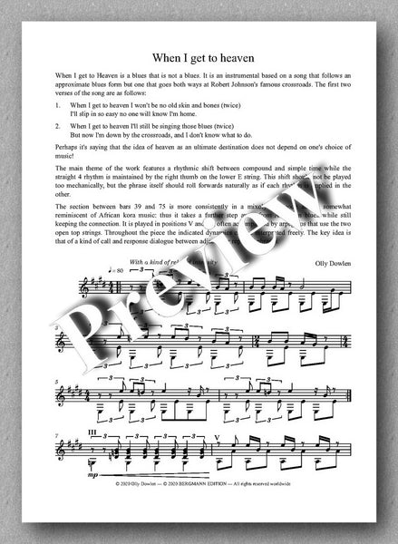 Dowlen, Five Pieces for Solo Guitar - preview of the music cover 3