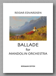 Reidar Edvardsen, Ballade for Mandolin Orchestra. Preview of the cover.