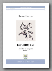 Juan Erena, ESTUDIOS I-VI - preview of the cover