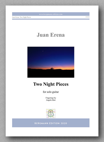 Juan Erena, Two Night Pieces - preview of the cover