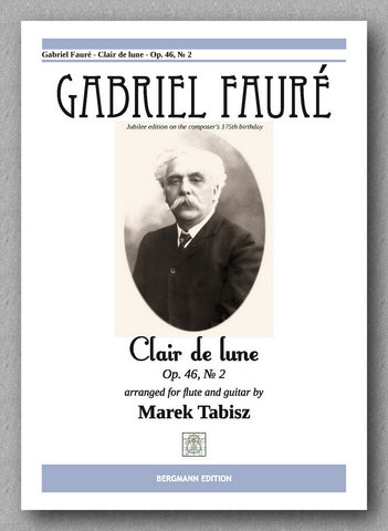 GABRIEL FAURÉ, CLAIR DE LUNE - Op. 46, № 2 - preview of the cover