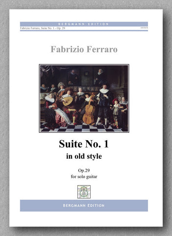 Fabrizio Ferraro, Suite No. 1 Op. 29 - In old style. Preview of the cover