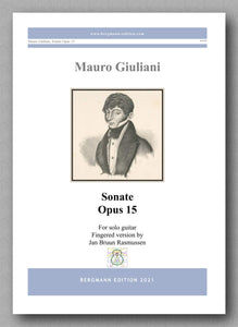 Giuliani-Rasmussen, Sonate op. 15 - cover