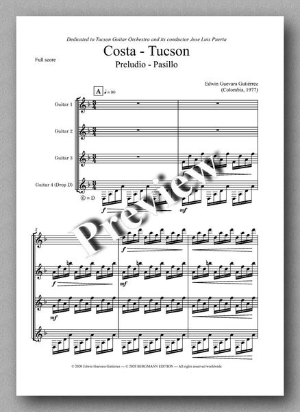 COSTA - TUCSON by Edwin Guevara Gutiérrez  - preview of the music score 1