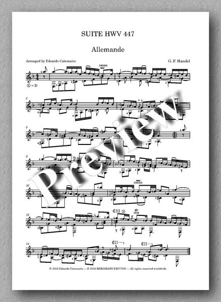 G. F. Händel, Suite HWV 447 - preview of the music score 1