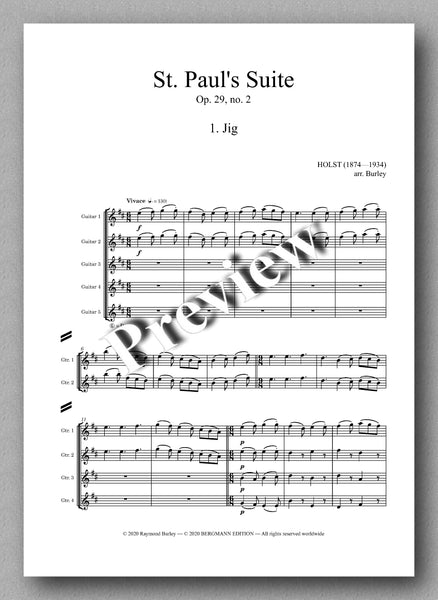 Gustav Holst, St. Paul's Suite, Op. 29, no. 2  - preview of the Music score 1