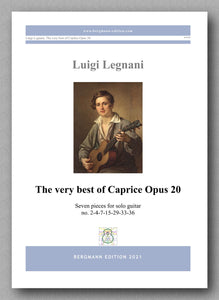 Luigi Legnani, The very best of Caprice Opus 20 - cover