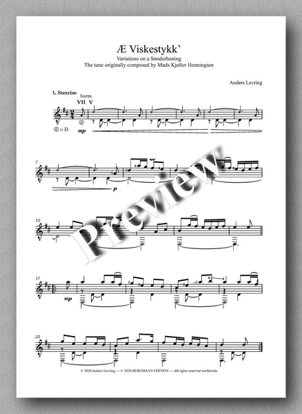 Æ Viskestykk'  Arranged for solo guitar by Anders Levring - preview of the music score