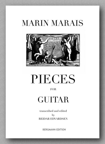 Marais-Edvardsen, Pieces for Guitar - preview of the cover