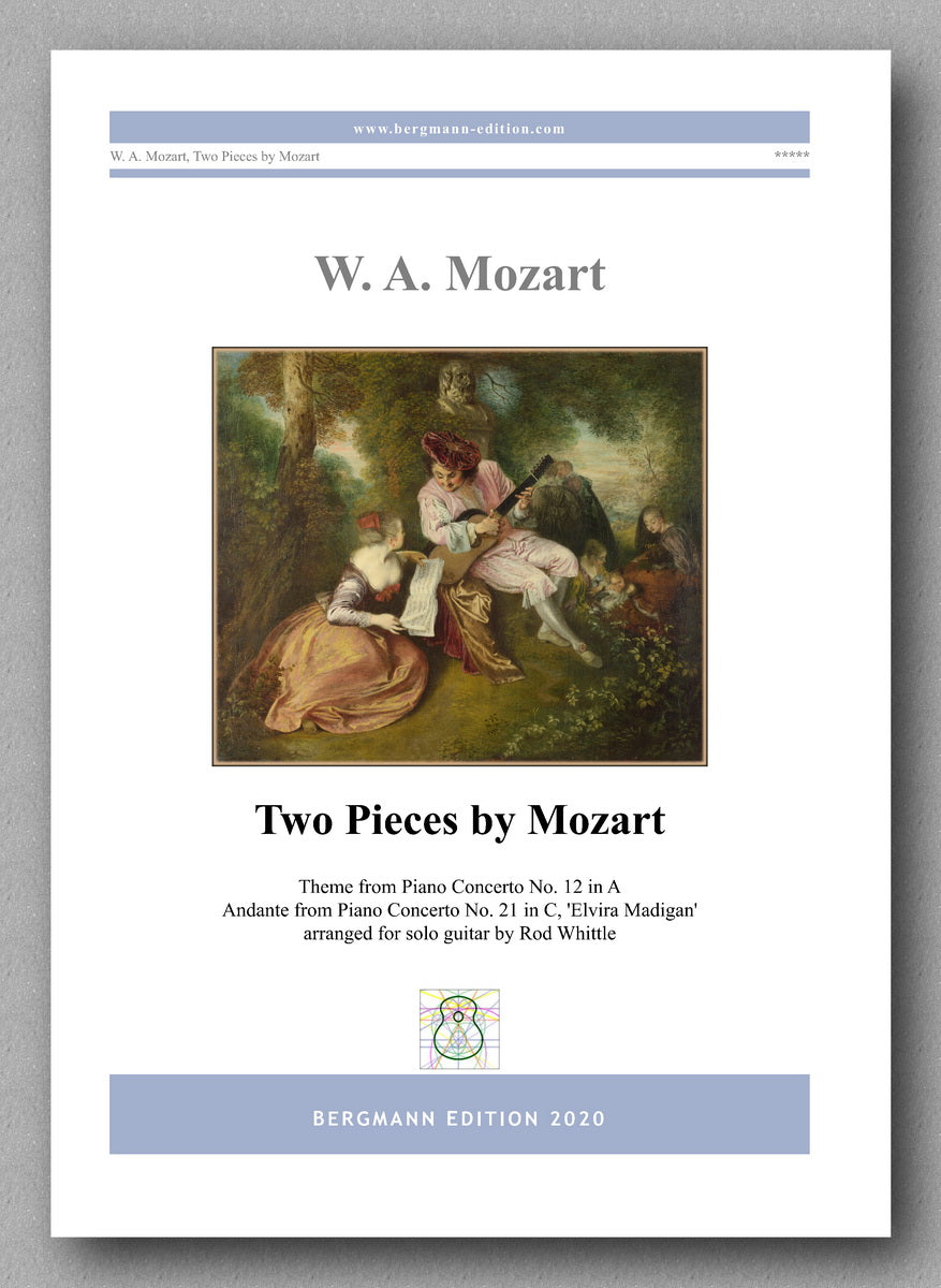 Mozart-Whittle, Two Pieces by Mozart - preview of the cover.