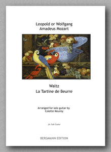 Mozart - Mourey, Waltz La Tartine de Beurre - preview of the cover