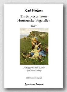 Carl Nielsen (1865-1931), Three pieces from Humoreske Bagateller, Opus 11 - preview of the cover