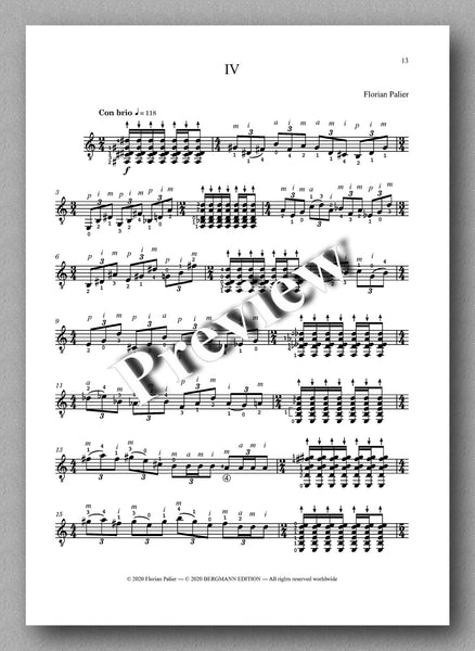 Palier, Four Pieces - preview of the music score 4