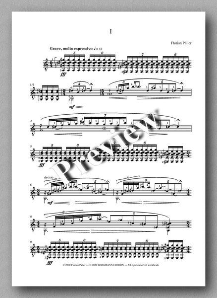 Palier, Four Pieces - preview of the music score 1