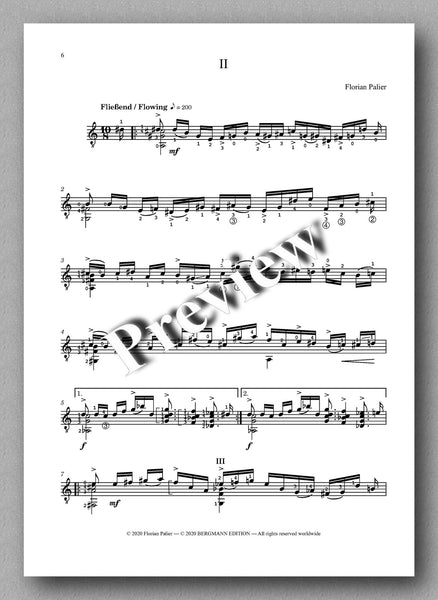Palier, Four Pieces - preview of the music score 2
